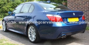 Full valet of BMW 525 in Crossbush