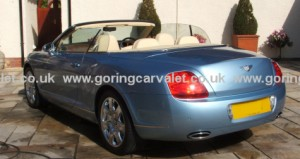 Regular full valet of Bentley Continental GTC in West Sussex