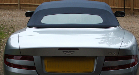 Regular soft top care of Aston Martin DB9 Volante in West Sussex