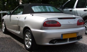 Soft top care of MGF in West Sussex