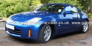 Regular valet of Nissan 350Z in Storrington