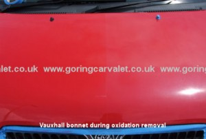 Vauxhall bonnet during oxidation removal