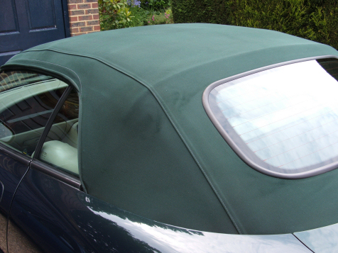 Convertible soft top care of Jaguar XKR in West Sussex