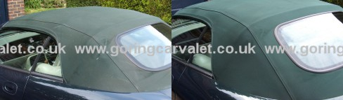 Jaguar XKR Convertible Roof Before And After Cleaning