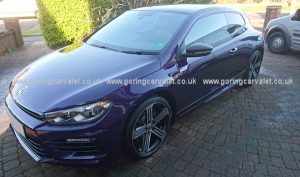 VW Scirocco - winter protection valet in Worthing