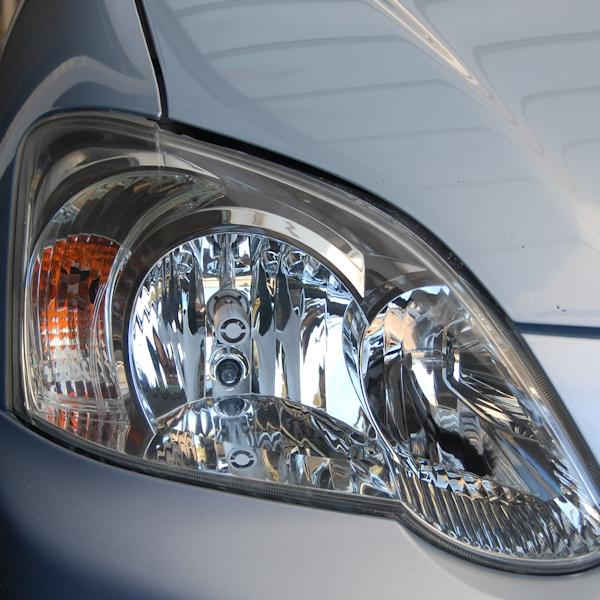 Headlight after restoration