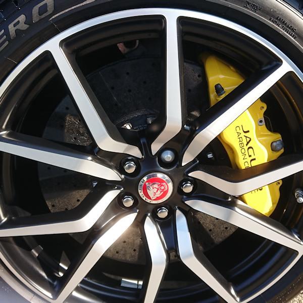 Jaguar carbon ceramic brakes