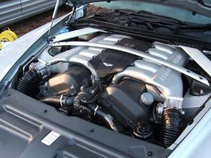 Aston Martin DB9 engine bay clean
