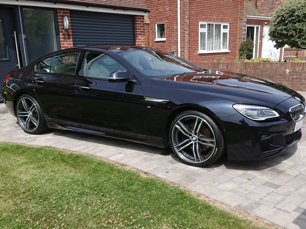 BMW 640 after Gold valet