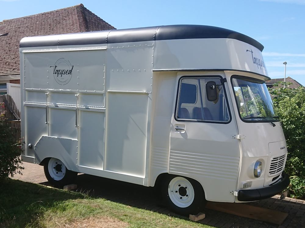 Peugeot J7 van mobile cocktail bar