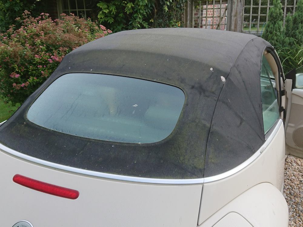 VW Beetle before soft top transformation