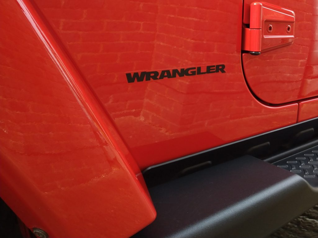 Jeep Wrangler winter protection valet - exterior trim protected