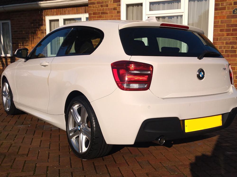 BMW 118i after regular Gold valet