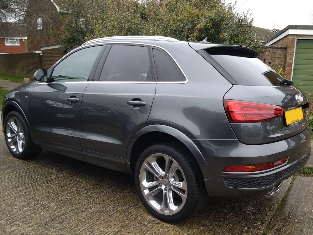 Audi Q3 exterior Gold valet ready for lease return