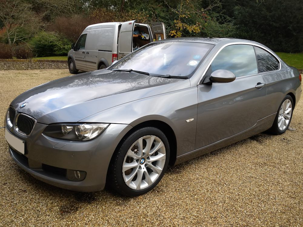 BMW 330i coupe after Gold interior and exterior valet
