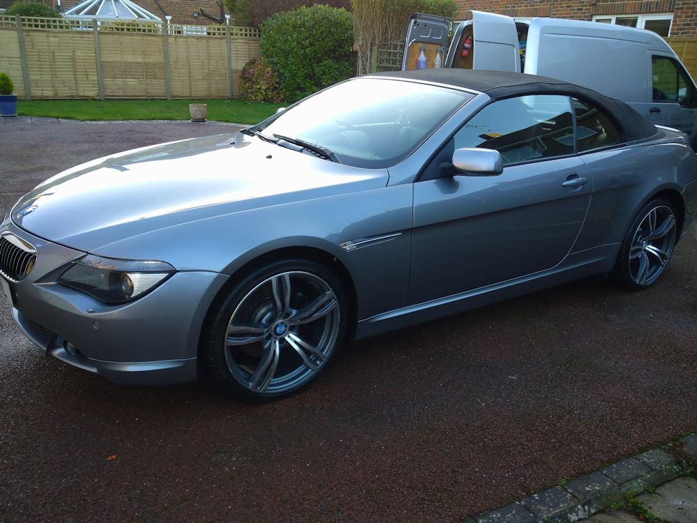 BMW 645i after gold exterior valet