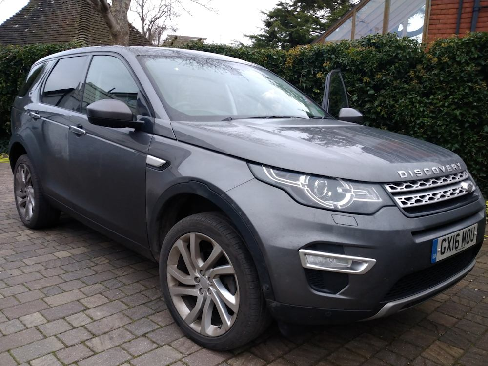 Discovery Sport before Gold valet