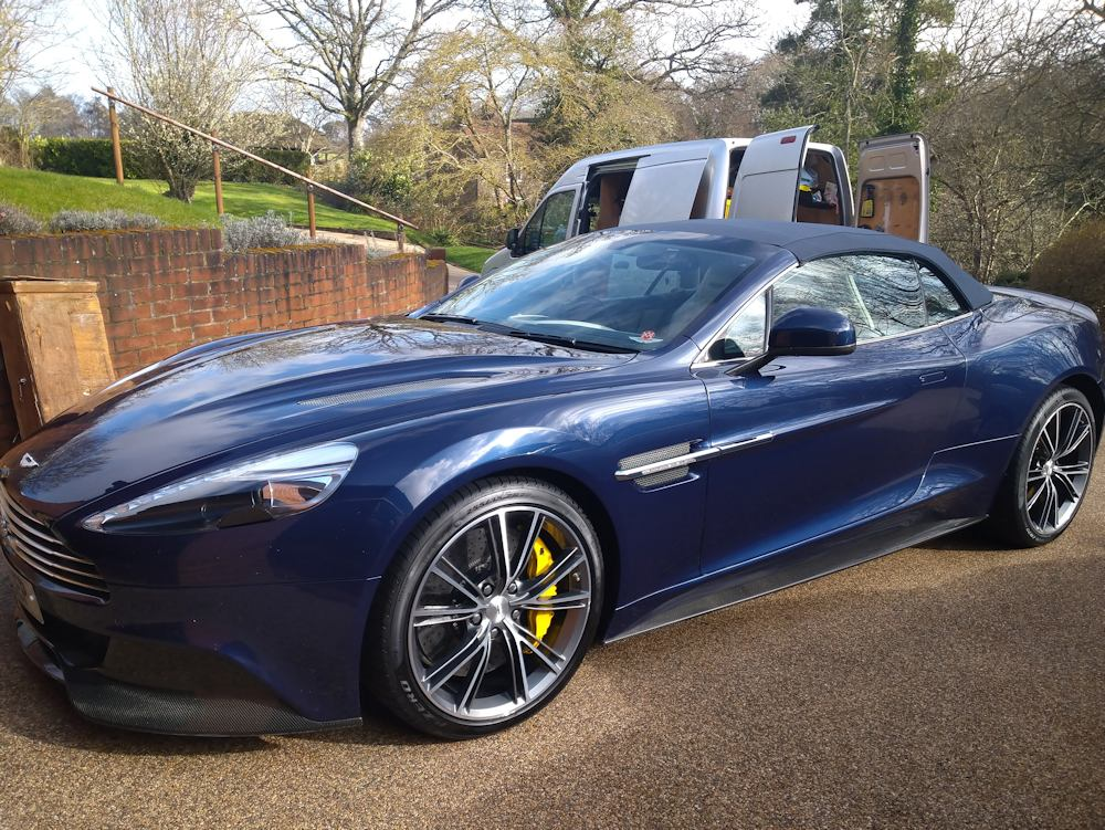 2015 Aston Martin Vanquish after gold valet