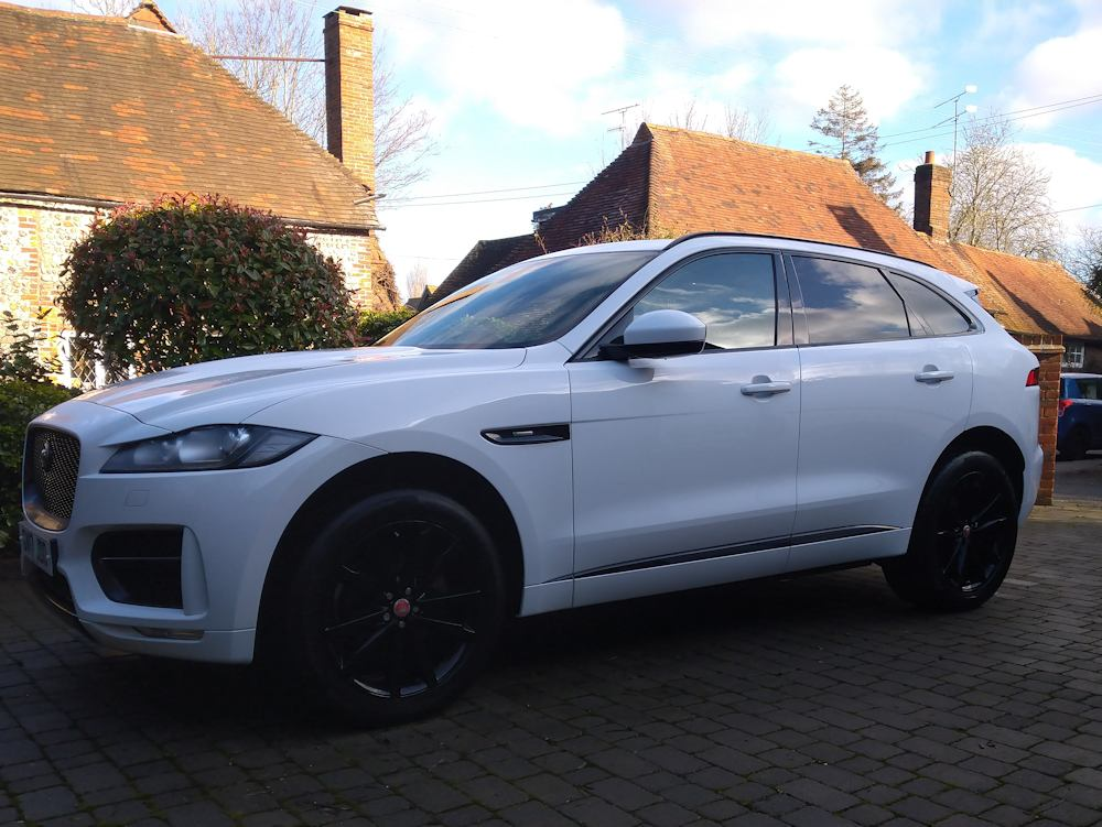 Jaguar F-Pace after gold valet